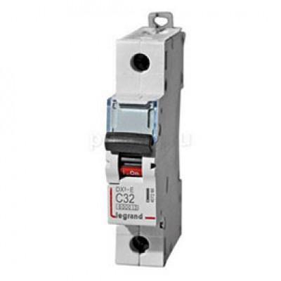LEGRAND 407266 Автоматический выключатель, серия DX3-E, С32A, 6kA, 1-полюсный