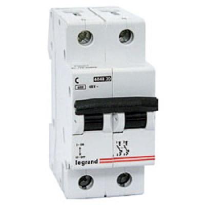 LEGRAND 407277 Автоматический выключатель, серия DX3-E, С16A, 6kA, 2-полюсный