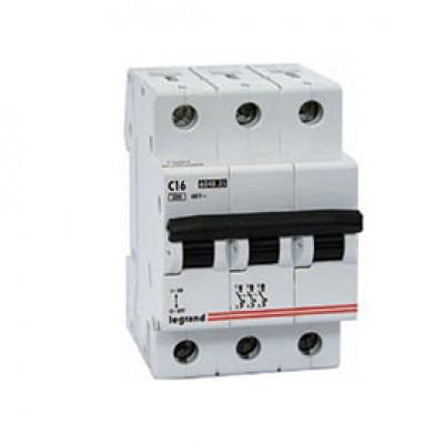 LEGRAND 407291 Автоматический выключатель, серия DX3-E, С16A, 6kA, 3-полюсный