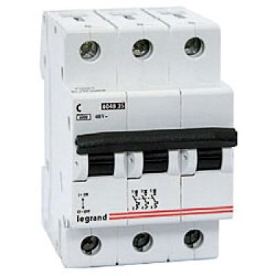 LEGRAND 407297 Автоматический выключатель, серия DX3-E, С63A, 6kA, 3-полюсный