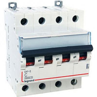 LEGRAND 407303 Автоматический выключатель, серия DX3-E, С10A, 6kA, 4-полюсный