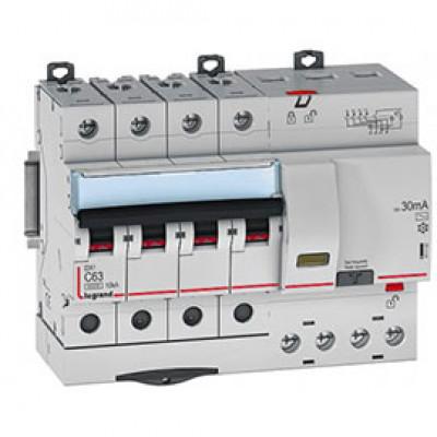 LEGRAND 407304 Автоматический выключатель, серия DX3-E, С13A, 6kA, 4-полюсный