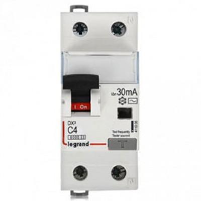 LEGRAND 407665 Автоматический выключатель, серия DX, С4A, 10kA, 1-полюсный