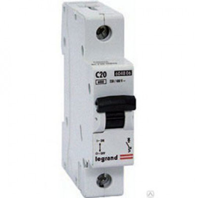 LEGRAND 407671 Автоматический выключатель, серия DX3, С20A, 10kA, 1-полюсный