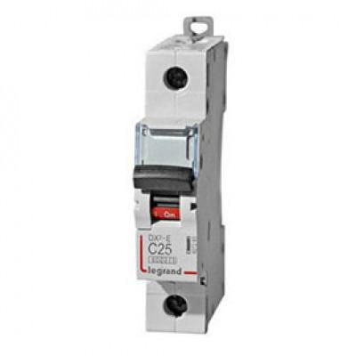 LEGRAND 407672 Автоматический выключатель, серия DX3, С25A, 10kA, 1-полюсный