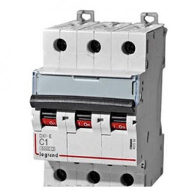LEGRAND 407851 Автоматический выключатель, серия DX3, С1A, 10кА, 3-полюсный