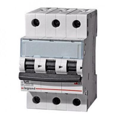 LEGRAND 407854 Автоматический выключатель, серия DX3, С4A, 10кА, 3-полюсный