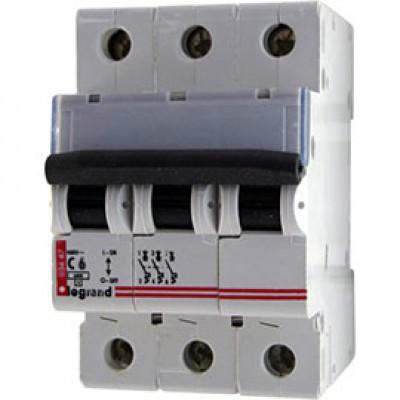 LEGRAND 407855 Автоматический выключатель, серия DX3, С6A, 10кА, 3-полюсный