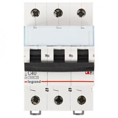 LEGRAND 407863 Автоматический выключатель, серия DX3, С40A, 10кА, 3-полюсный