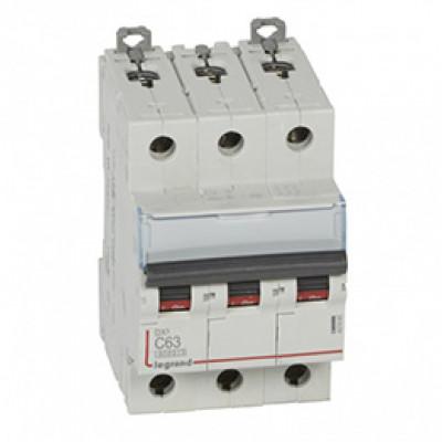 LEGRAND 407865 Автоматический выключатель, серия DX3, С63A, 10кА, 3-полюсный