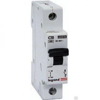 LEGRAND 409115 Автоматический выключатель, серия DX3, С20A, 25kA, 1-полюсный