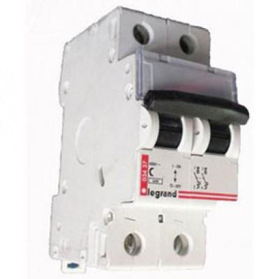LEGRAND 409199 Автоматический выключатель, серия DX3, С6A, 30kA, 2-полюсный