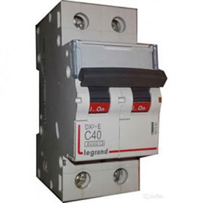 LEGRAND 409206 Автоматический выключатель, серия DX3, С40A, 20kA, 2-полюсный