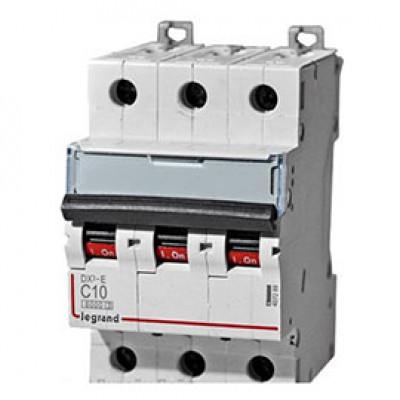 LEGRAND 409252 Автоматический выключатель, серия DX3, С10A, 25кА, 3-полюсный