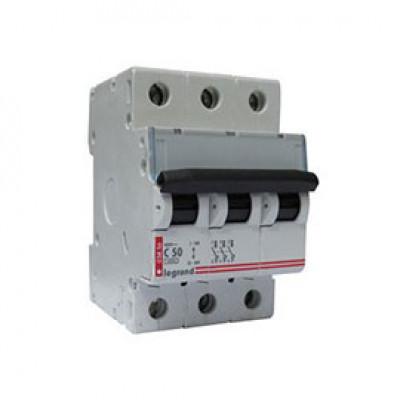 LEGRAND 409259 Автоматический выключатель, серия DX3, С50A, 12,5кА, 3-полюсный
