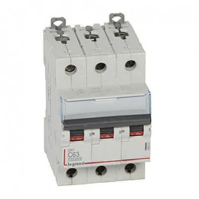 LEGRAND 409260 Автоматический выключатель, серия DX3, С63A, 12,5кА, 3-полюсный
