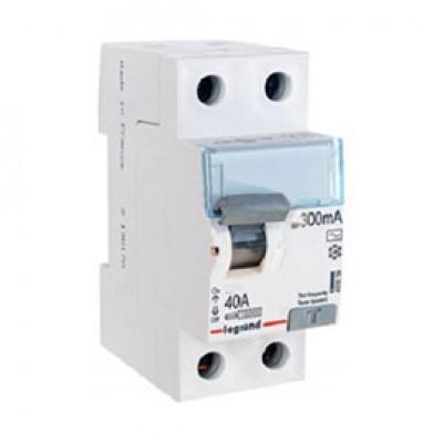 LEGRAND 411525 Дифференциальный выключатель, серия DX3, 40A, 300mA, 2-полюсный, тип АС