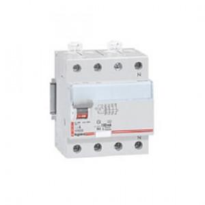 LEGRAND 411714 Дифференциальный выключатель, серия DX3, 63A, 100mA, 4-полюсный, тип АС