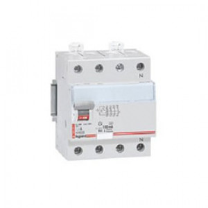 LEGRAND 411715 Дифференциальный выключатель, серия DX3, 80A, 100mA, 4-полюсный, тип АС