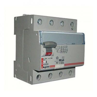 LEGRAND 411725 Дифференциальный выключатель, серия DX3, 80A, 300mA, 4-полюсный, тип АС