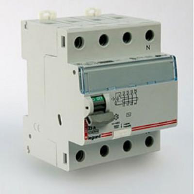 LEGRAND 411732 Дифференциальный выключатель, серия DX3, 25A, 500mA, 4-полюсный, тип АС