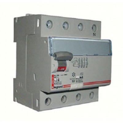 LEGRAND 411733 Дифференциальный выключатель, серия DX3, 40A, 500mA, 4-полюсный, тип АС