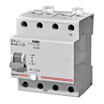 LEGRAND 602146 Дифференциальный выключатель, серия LR, 25A, 30mA, 4-полюсный, тип АС