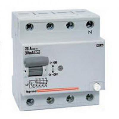 LEGRAND 602152 Дифференциальный выключатель, серия LR, 25A, 300mA, 4-полюсный, тип АС