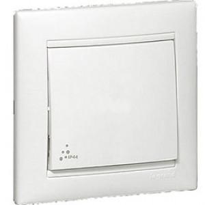 LEGRAND 770092 Выключатель двухполюсный, 10АХ, 250В, IP44, белый, Valena