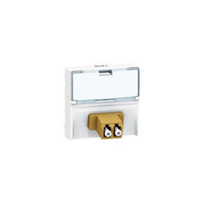 LEGRAND 078618 Модуль розетки волоконно-оптической 2хLC, с линейным подключением, Mosaic