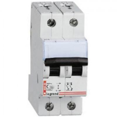 LEGRAND 403927 Автоматический выключатель, серия TX3, C6A, 2-полюсный