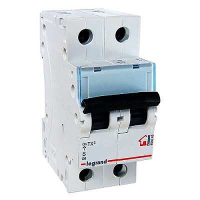 LEGRAND 404040 (604818) Автоматический выключатель, серия TX3, С10A, 2-полюсный