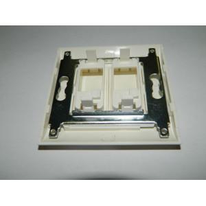 Лицевая рамка со вставкой под 2 модуля