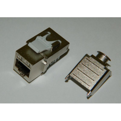 Модуль Keystone экранированный Кат.6А, RJ45/8P8C, 90°, тип заделки Dual IDC