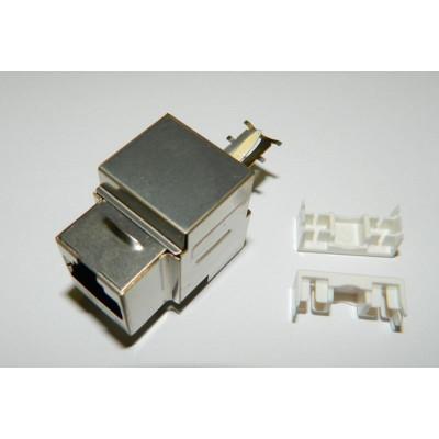 Модуль Keystone экранированный Кат.6, RJ45/8P8C, 90°, тип заделки Dual IDC