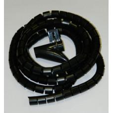 Пластиковый спиральный рукав для кабеля д.25 мм (2 м) и инструмент, черный
