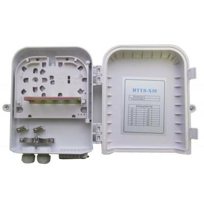 Оптическая кросс-муфта пластиковая на 8 сварок, 1 сплайс-пластина, SC