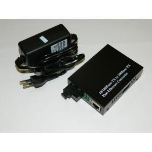 WDM 10/100 медиаконвертер, SM, SC, 1310nm, 20 km с DIP переключателем