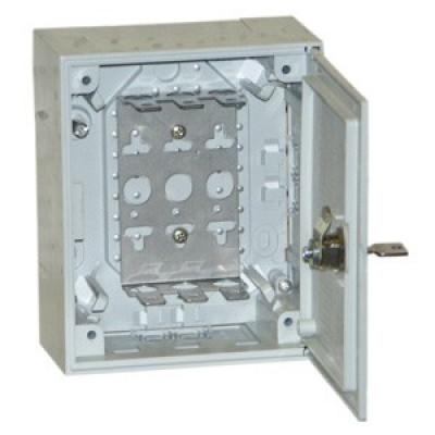 KRONECTON Box I, с монтажн хомут для 3 LSA-PLUS модулей 2/10, дверь с поворот запором 6436 1 013-20
