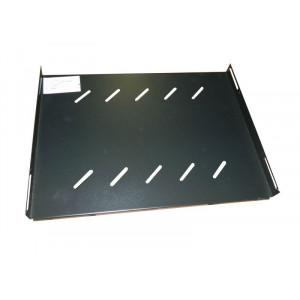 Полка стационарная усиленная для шкафа гл. 800, цвет-черный